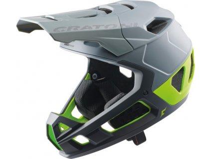 Cykl.helma Cratoni Interceptor 2.0 Vel. M/L (58-61cm) šedá/limet mat.