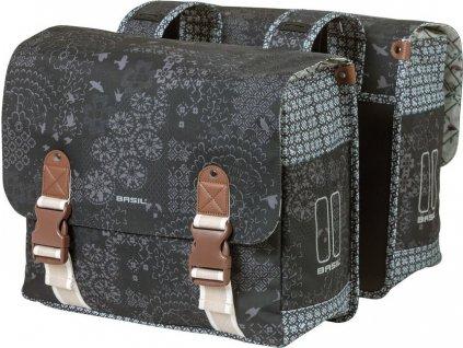 Dvojitá cest.taška Basil Boheme MIK dr.uhlí, reflex.pásky, 35l
