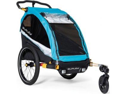 Detský závesný vozík Burley D`Lite X Aqua, Single