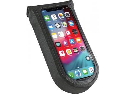 Taška na telefon Tour S KLICKfix+adapt. cirá/cerná, s otocnou spojkou
