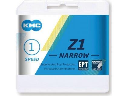 """Retez KMC Z1 NarrowEPT p.razení v náboji 1/2 x 3/32"""", 112 clánku, 7,3mm. šedá"""