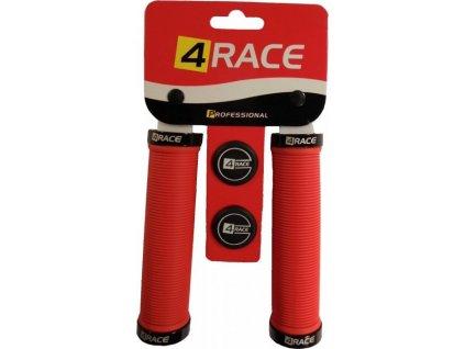 gripy 4RACE  2x Lock 130mm červené
