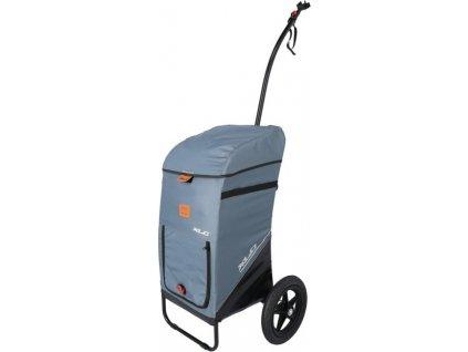 """Nákupný vozík 12"""" vysoké oje šedá"""