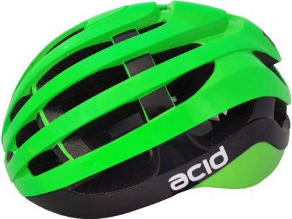 Cyklistická prilba ACID, S/M (54-58cm), green-black, shine
