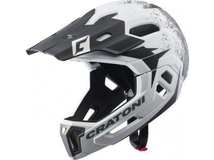 Cykl.helma Cratoni C-Maniac 2.0MX (MTB) Vel. M/L (54-58cm) bílá/cerná mat.