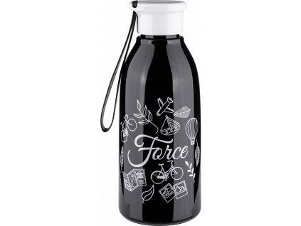 FORCE fľaša DROP 0,6 l, čierna