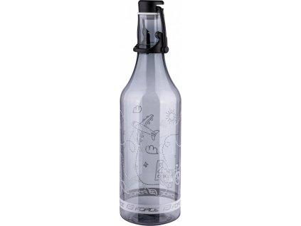 FORCE fľaša FLASK 0,5 l, transparentná dymová