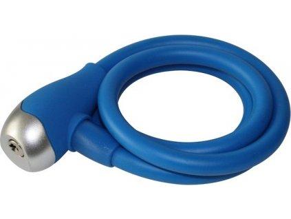 Špirálový zámok QT Cycle Tech 120cm 12mm bez držiaku, modrý
