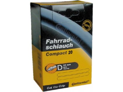 """Duša Continental Compact 20x1 1/4-1.75"""" 32/47-406/451, DV 40mm"""