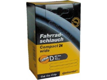 """Duša Continental Compact 24x1.75/2.125"""" 47/57-507 DV 40mm"""
