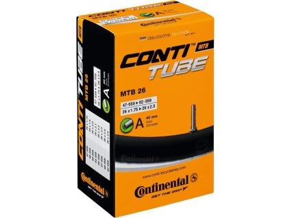"""Duša Continental MTB 26x1.75/2.30"""" 47/62-559,SV 42mm"""