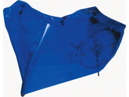 Garáž na bicykel 200 x 100 cm modrá s pútkami a páskami