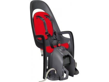 Detská sedacka Hamax Caress nosic šedá/tm.šedá/cervená, upevnení na nosic