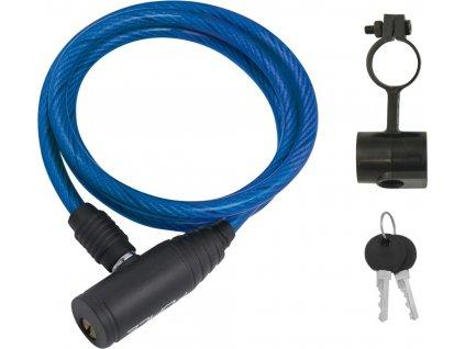 Zámok FORCE ECO 120cm/8mm, modrý