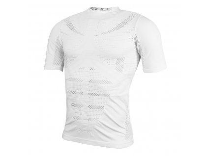 triko/funkční prádlo F WIND krátký rukáv bílé S-M