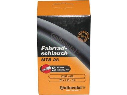 """Duša Continental MTB 28/29 28/29x1.75/2.50"""" 47/62-622 SV 60mm"""