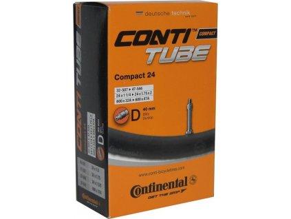 """Duša Continental Compact 24 24x1 1/4-1.75"""" 34/47-507/544,DV 40mm"""