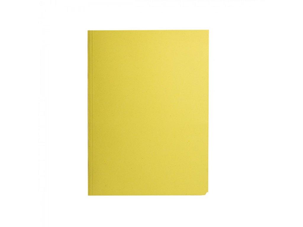 Odkladacia mapa 253 s chlopňami prešpán žltá