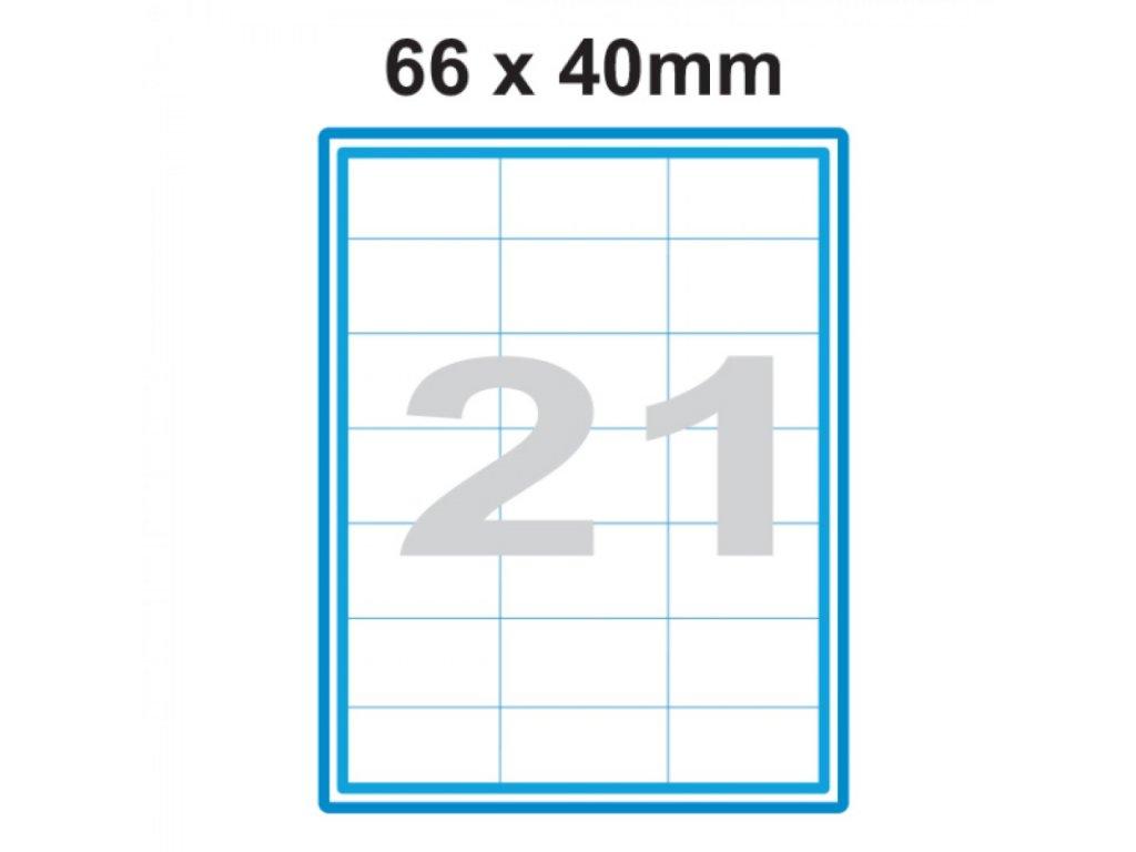 Etikety A4 Print 66x40mm 21 SO066040