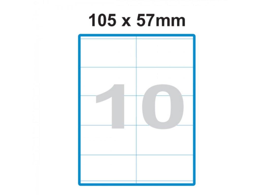 Etikety A4 Print 105x57mm (10) SO105057