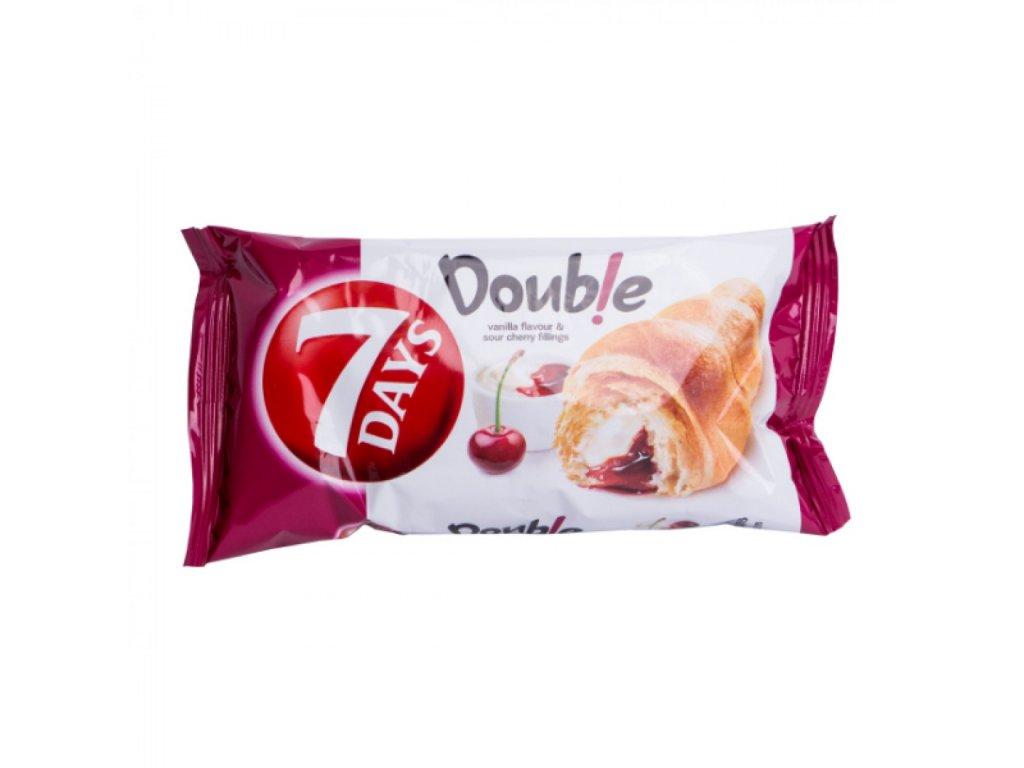 7 DAYS croissant double vanilka višňa