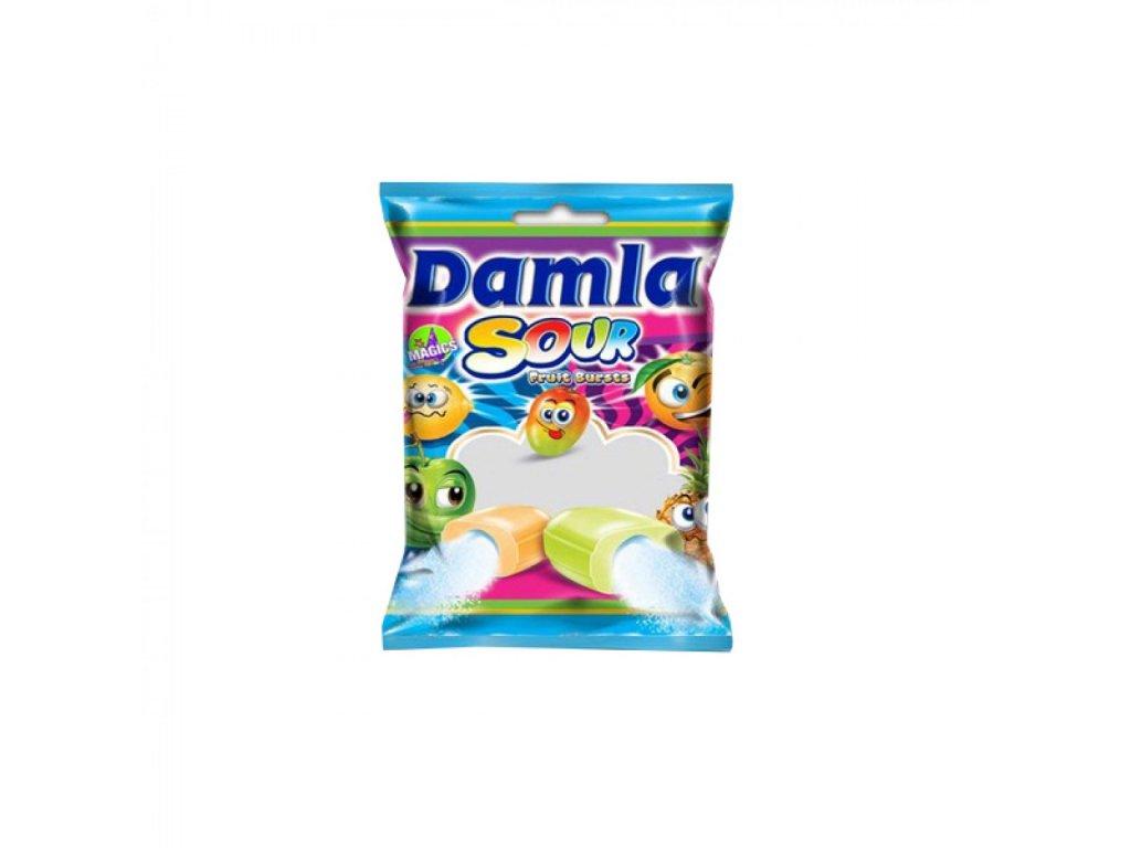 Cukríky Damla plnené ovocné karamelky kyslé 1000 g