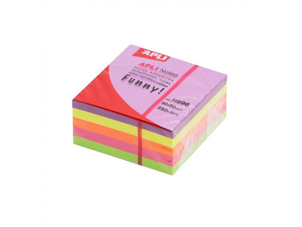 Samolepici bloček 51 X 51 mm ,kocka, neónové,250 listov