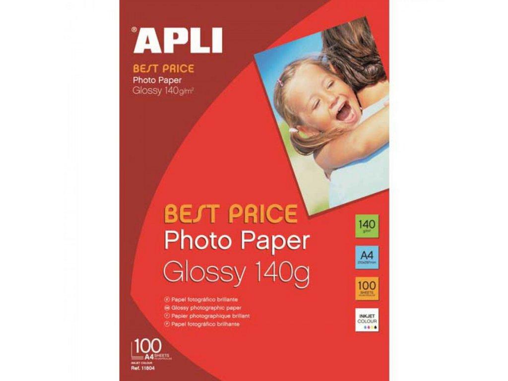 Fotopapier A4 APLI BEST PRICE 140g lesklý 100l.