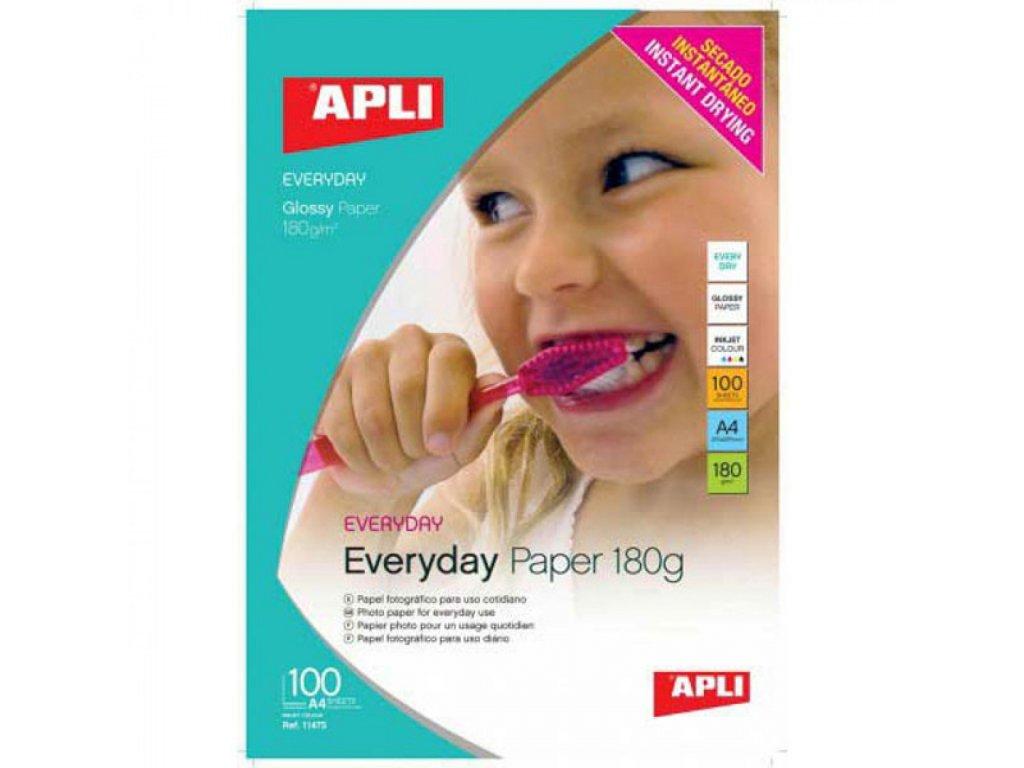 Fotopapier A4 APLI EVERYDAY lesklý 180g 100list.
