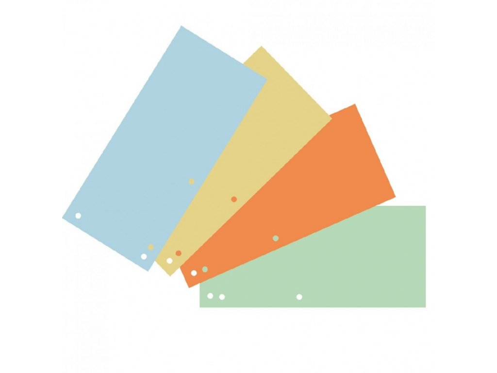 Rozraďovač tretinkový DONAU mix farieb kartónový