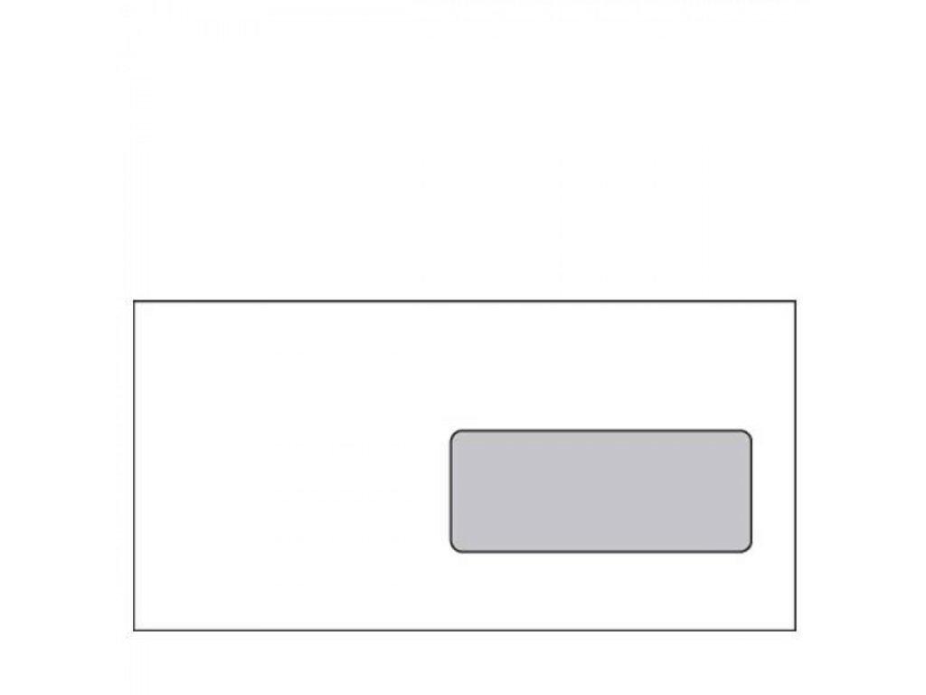 Obálky DL samolepiace, okienko, vnútorná potlač