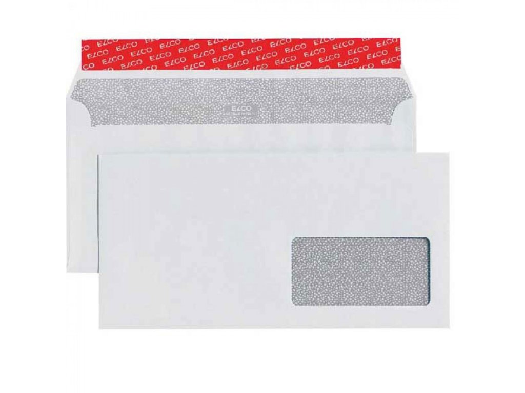 Obálka C6 C5 ELCO s páskou a okienkom