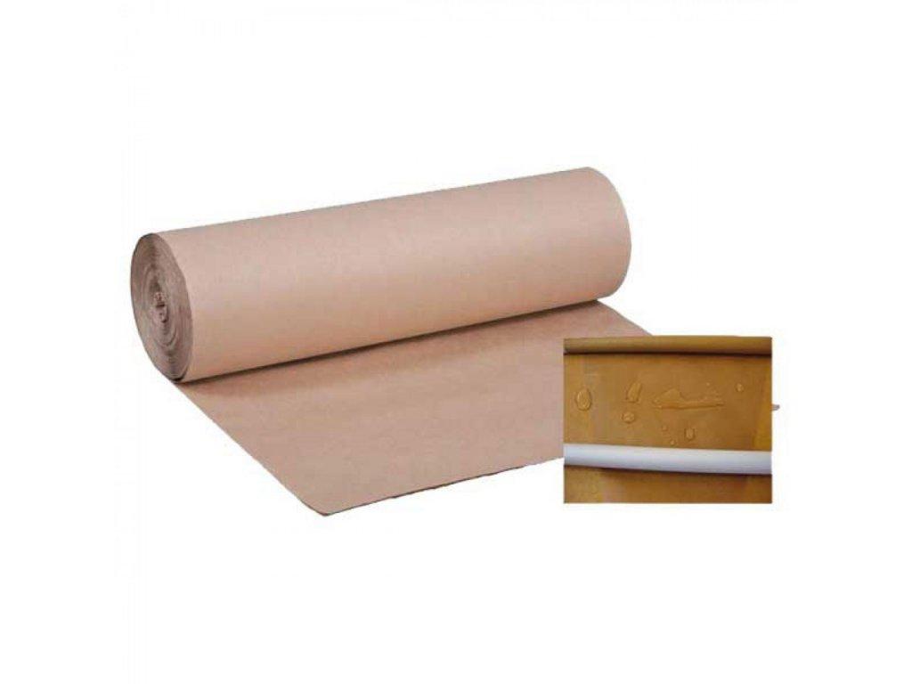 Papier gačovaný 100g m2, šírka 102 cm hnedý, voskový náter