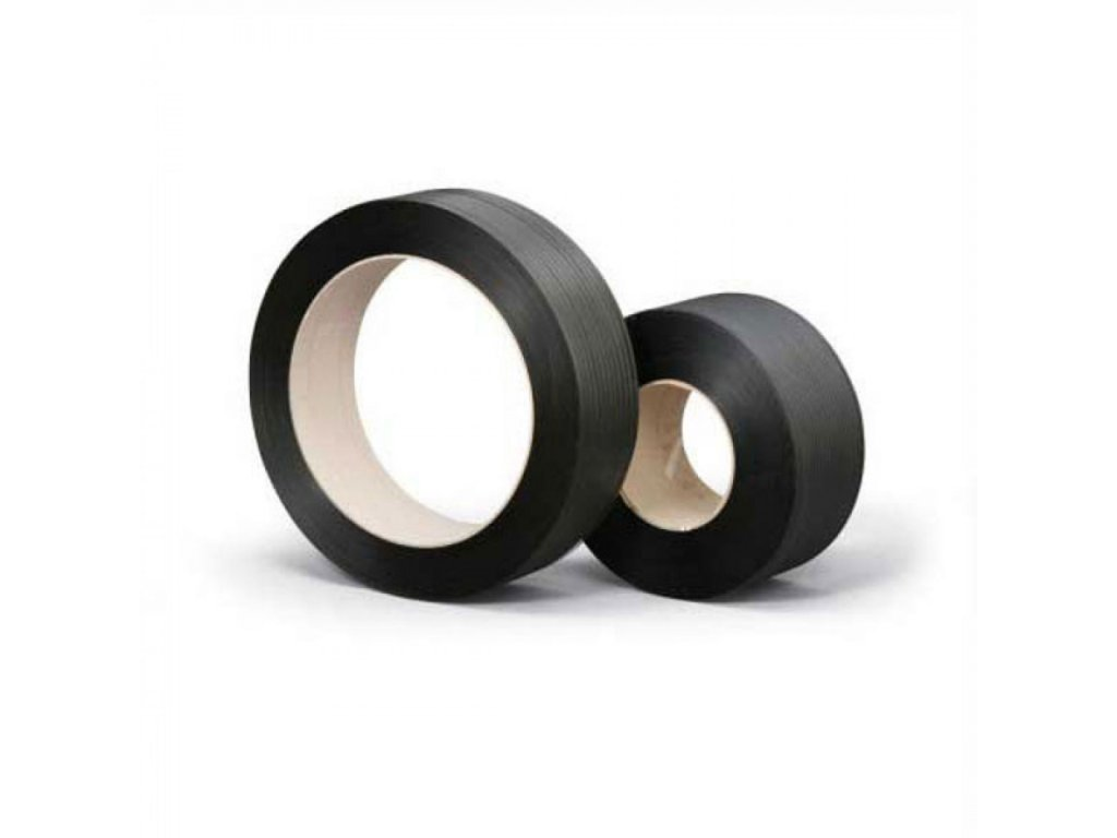 Viazacia páska PP 12mm 0,55mm 3000m 200 čierna,150 kg