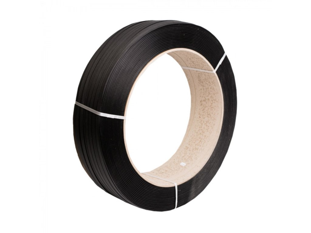 Viazacia páska PP 15mm 0,80mm1600m 406 čierna, 275kg