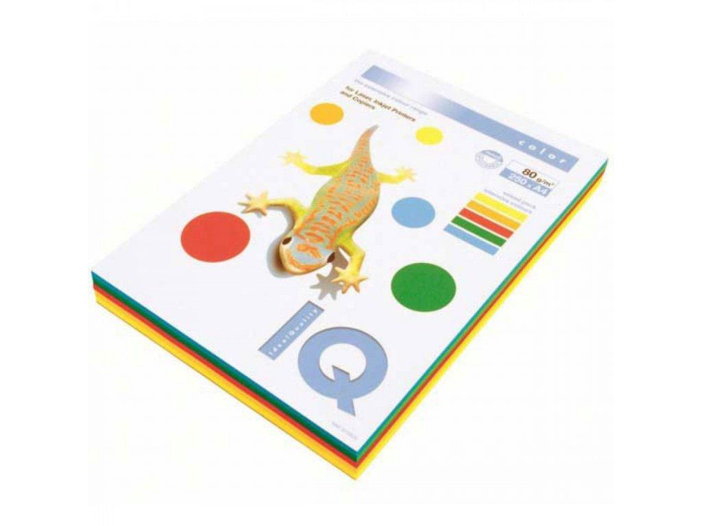 Kopírovací papier A4 80g IQ color 5x50 mix intenzívne farby