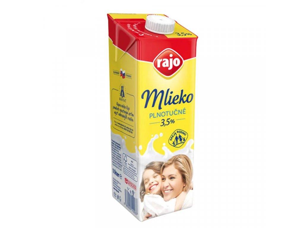 Mlieko Rajo 1L plnotucne 3,5