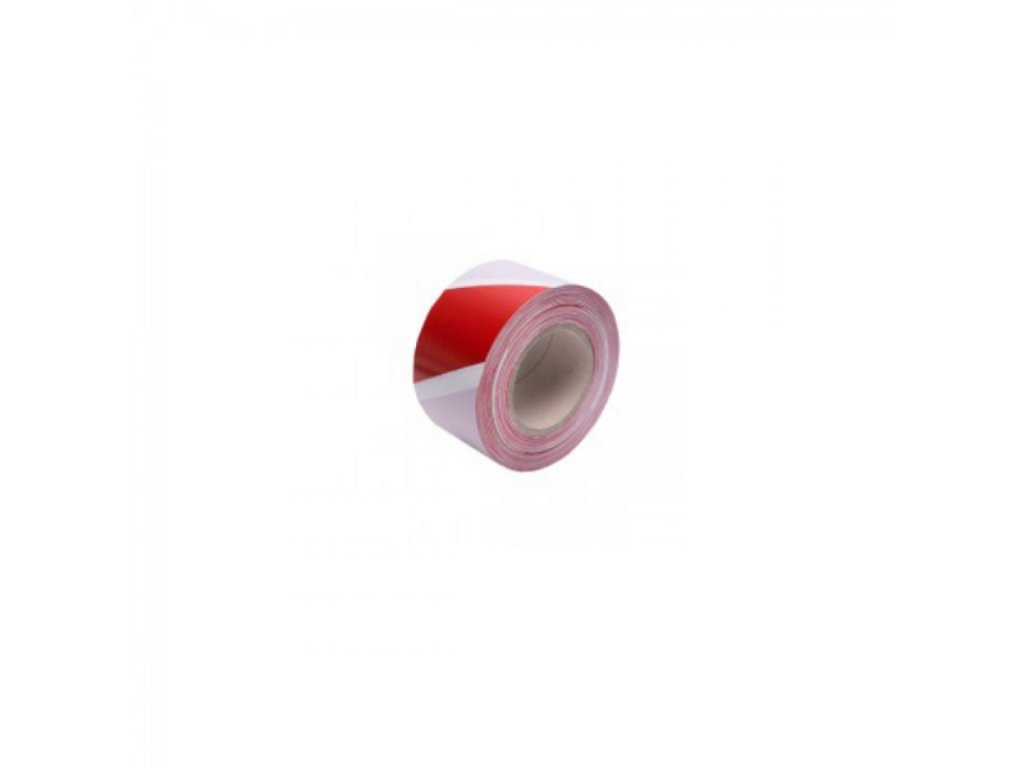 Výstražná fólia 7,5cmx300m bielo červená