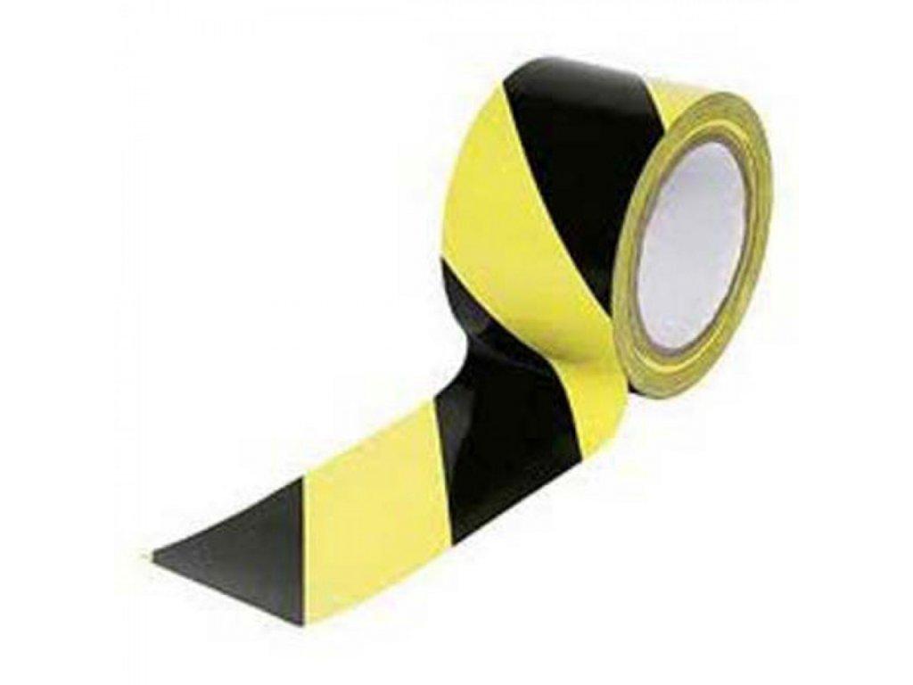Výstražná páska 100mmx33m žlto čierna PVC