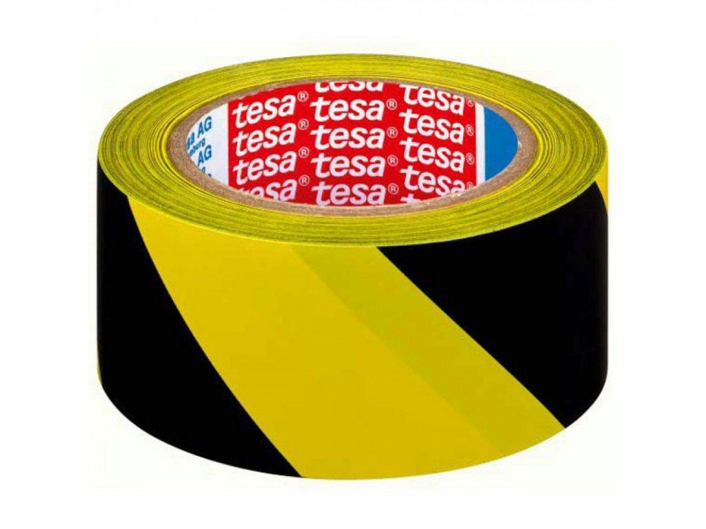 Výstražná páska TESA 50mmx33m PVC žlto čierna