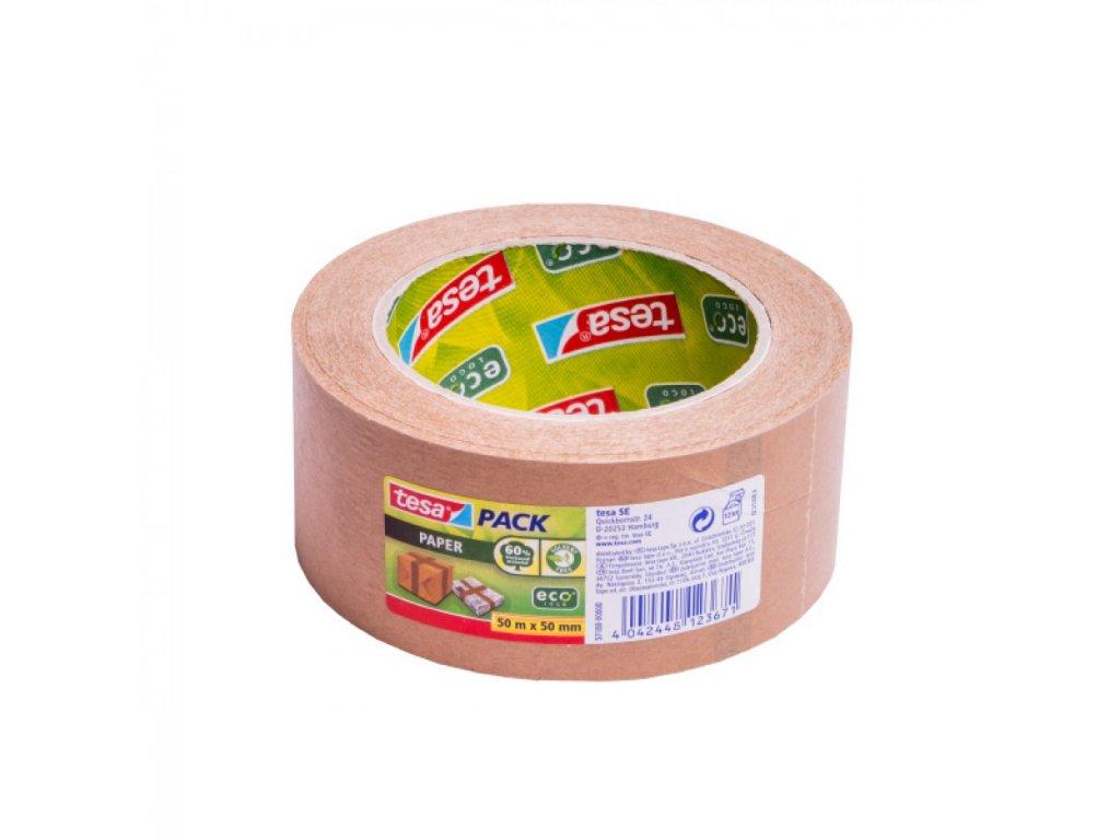 Lep. páska Tesa 57180 Paper Packaging Tape 50m x 50mm hnedá