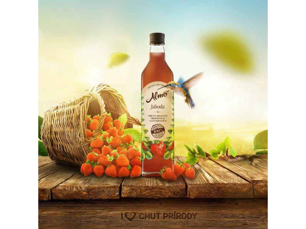 ALMO sirup JAHODA 50% ovocia 0,5L