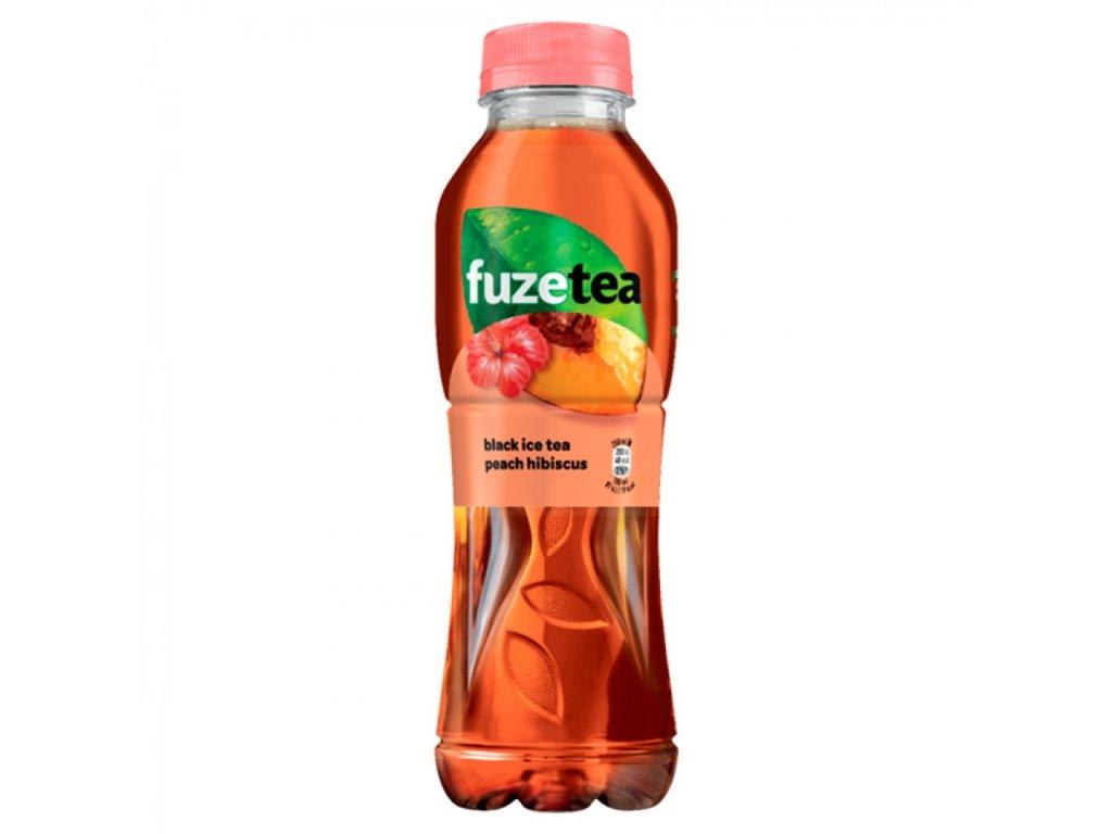 Ľadový čaj FUZE TEA BROSKYŇA IBIŠTEK 500ml PET