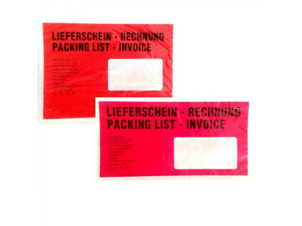 Obálky na sprievodky DL s potlačou okienko vpravo 100 ks