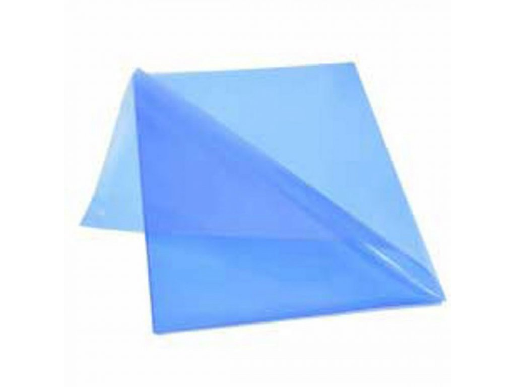 Obal L na dokumenty lesklý 150mic modrý