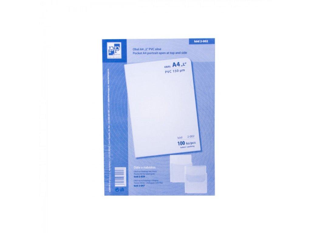 Obal na dokumenty L A4 PVC silné 150 mic 100ks