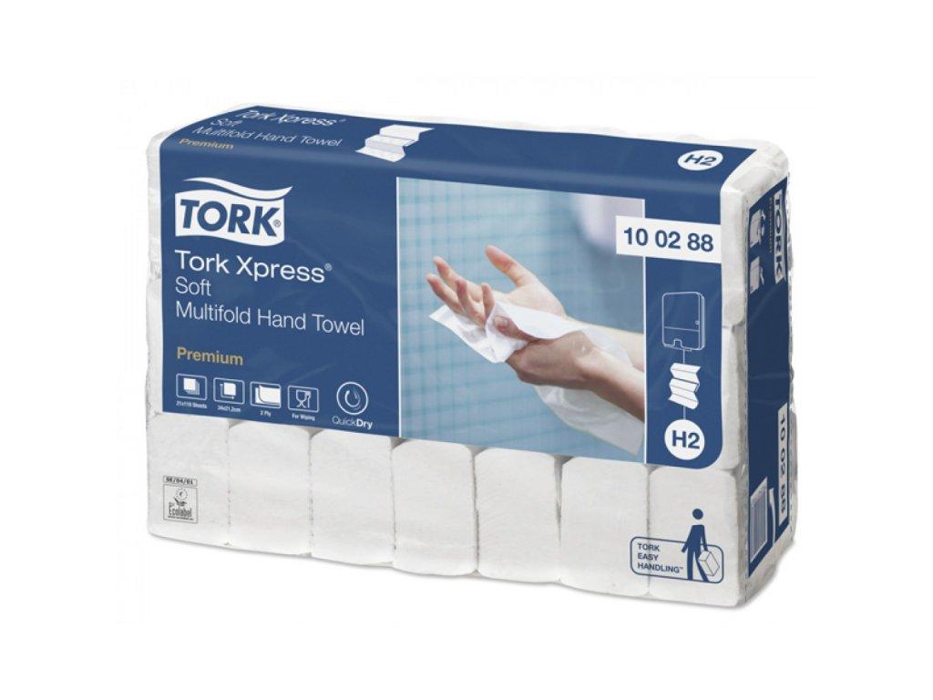 Utierky Tork Xpress® jemné papierové Multifold, ZZ, biele (H2)