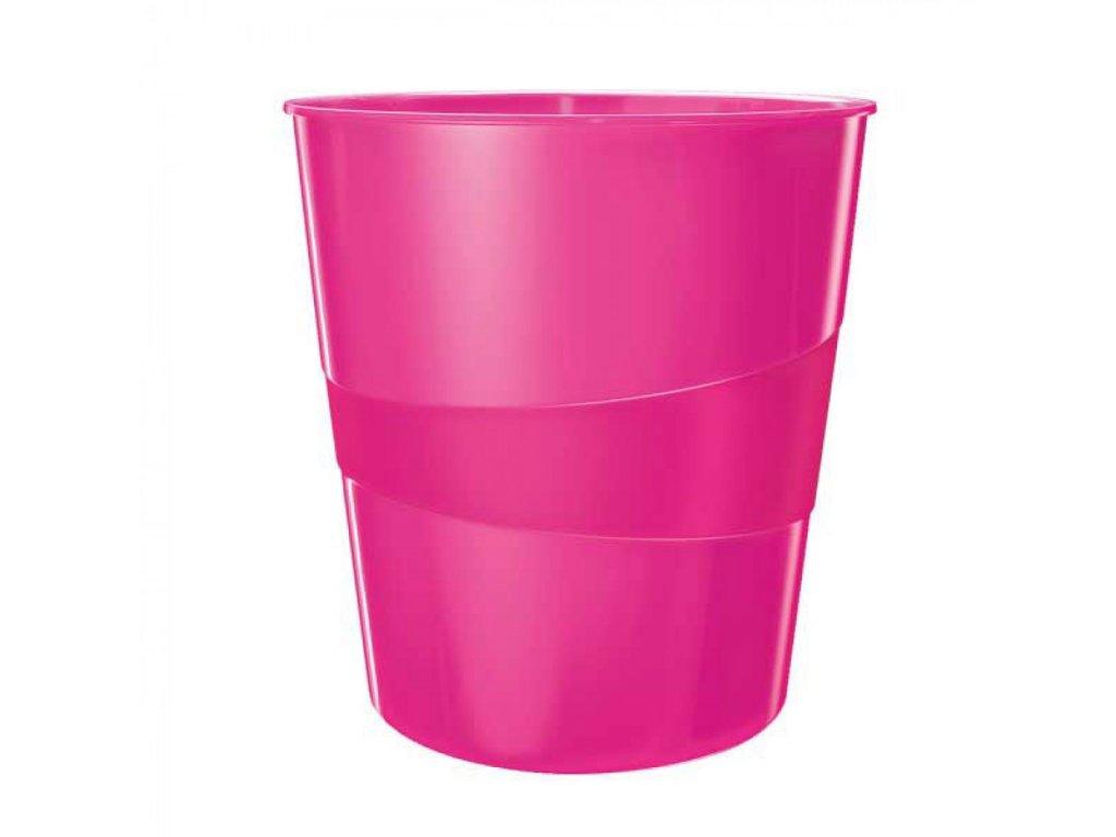 Odpadkový kôš Leitz WOW ružový