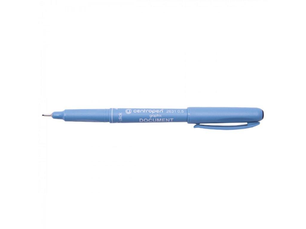 Liner Centropen 2631 čierny 0.5 cca 0,5 mm
