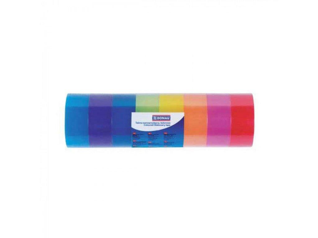 Lepiaca páska 18mm x 18m farebná 8ks